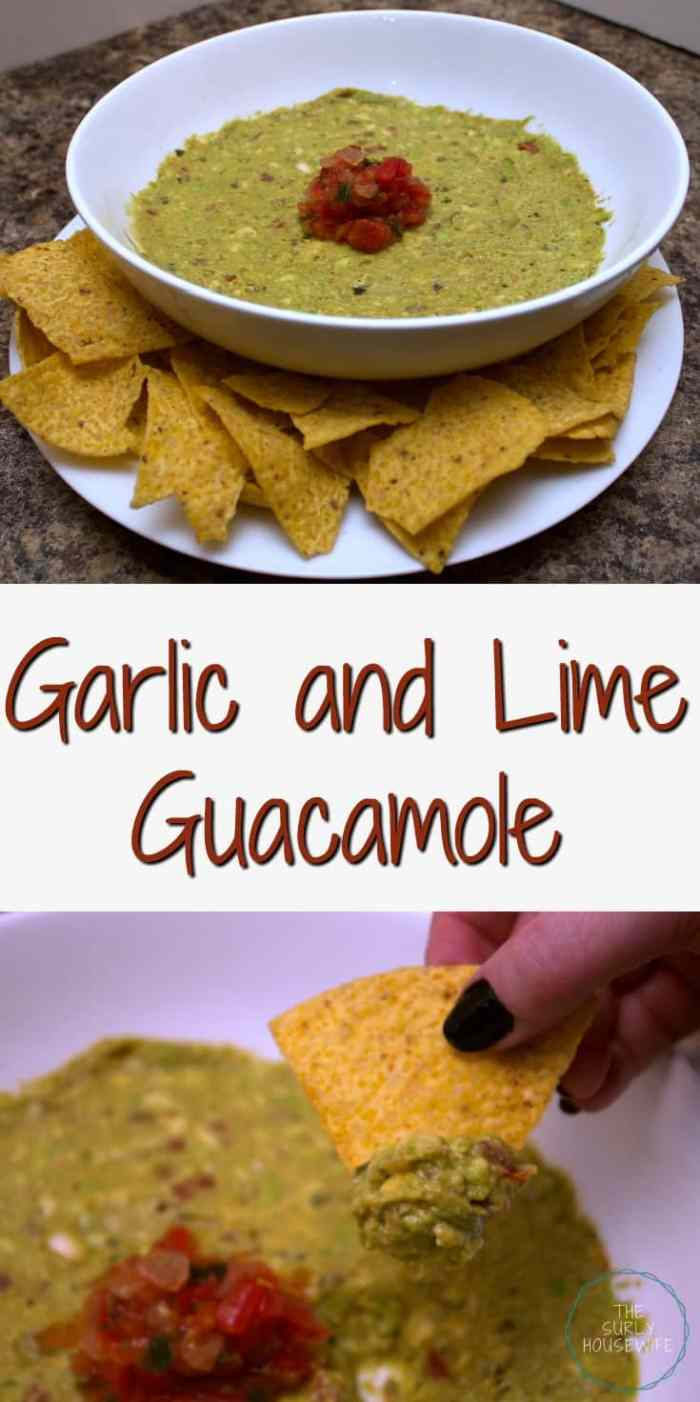 Garlic and lime guacamole, a delicious and easy guacamole recipe that comes together in just one hour!! Click here for the recipe.