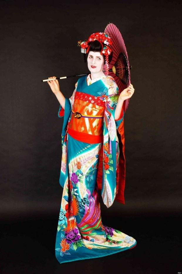 Kurimu in echte kimono als een ware Geisha. Foto door Kurimu.