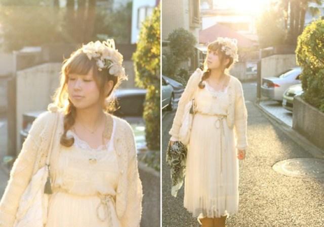 Mori Girl. Foto via Pinterest.