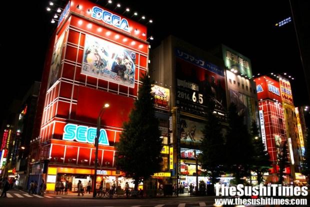 Sega Arcade in Akihabara, Tokyo.