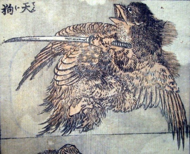 Traditionele tekening door Katsushika Hokusai  (1760–1849