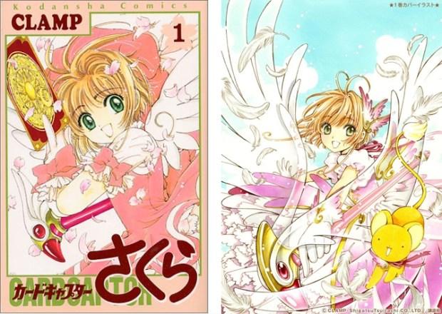 De cover van de oudste en een van de nieuwste manga pockets.
