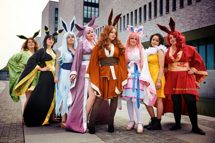 Cosplays door o.a. Kotono Cosplay en Rini Cosplay. Foto door Circular Media.