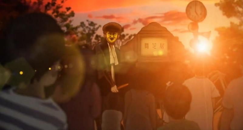 Yamishibai uit 2013 als voorbeeld van hedendaagse anime gebaseerd op kamishibai.