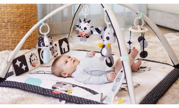 Magical Tales Tiny Love Black /& White Gymini Deluxe Infant Activity Play Mat