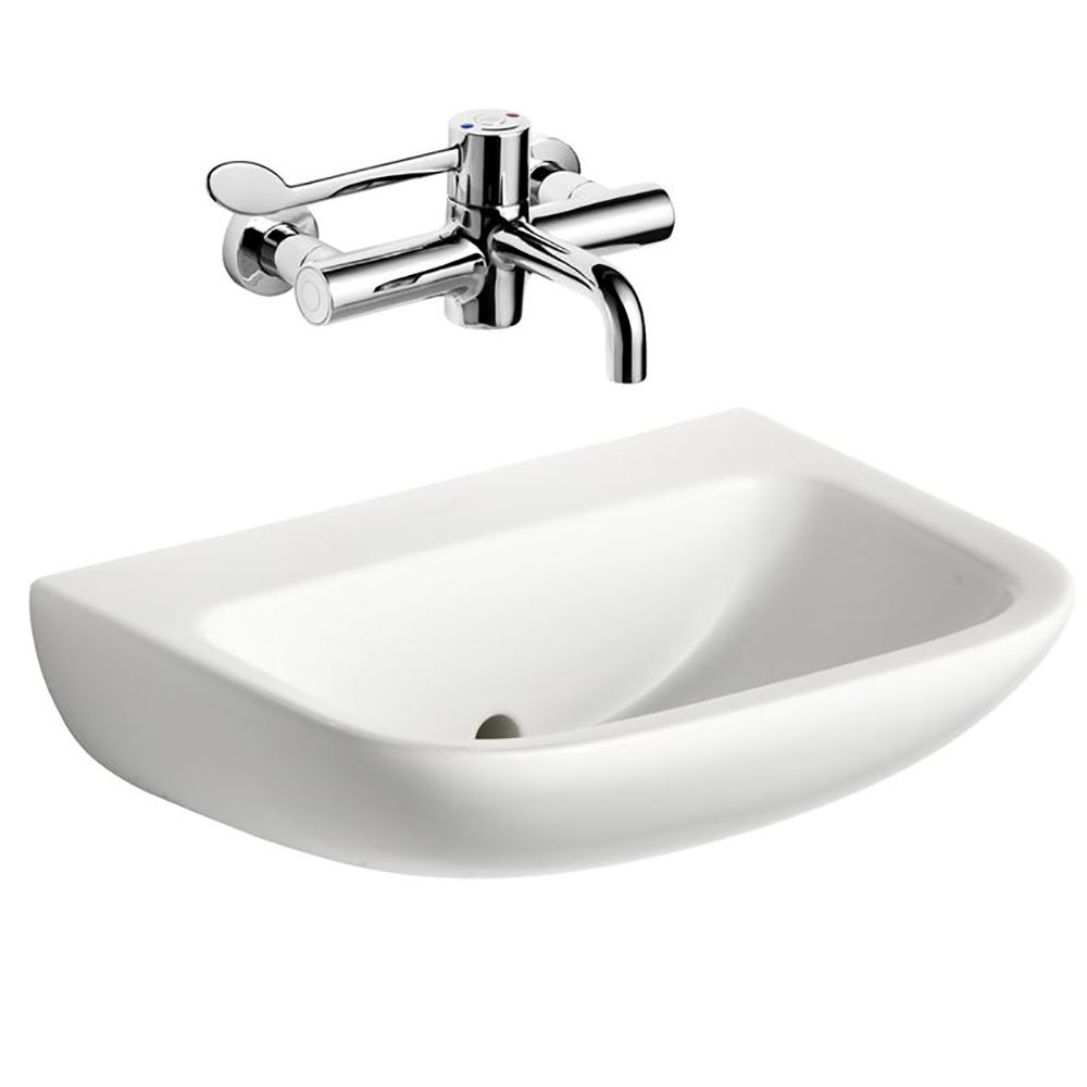 contour 21 washbasin 500mm wall hung noth