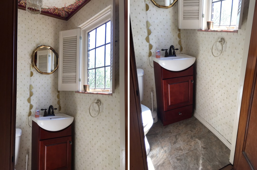 Before - The Powder Room | The Sweet Beast Blog