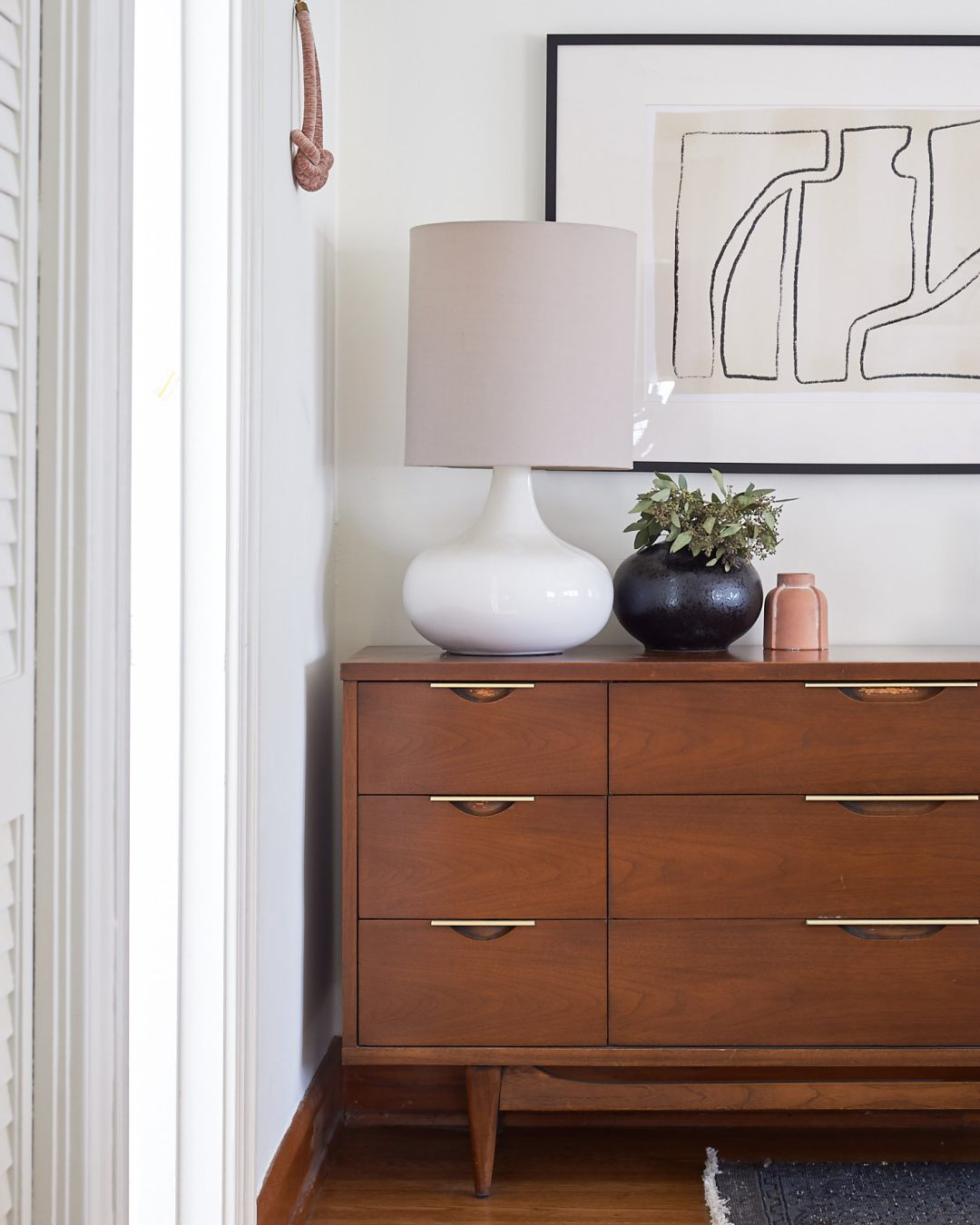 Mid Century Dresser Abstract Art