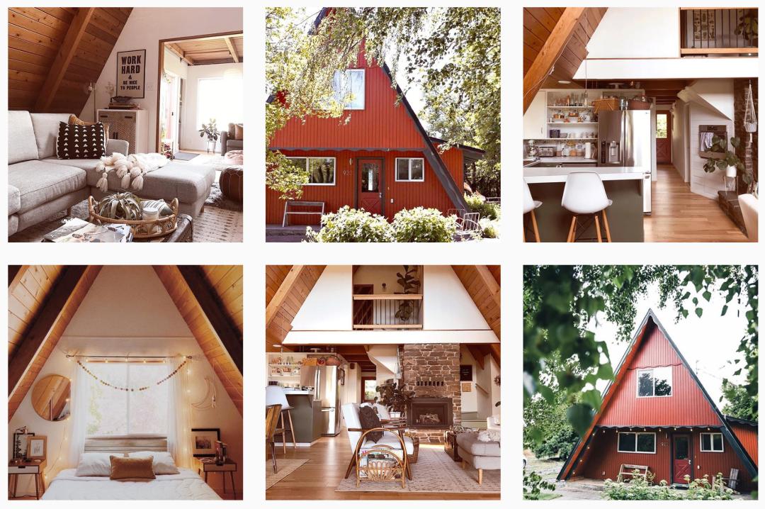 Redaframe exterior and interior photo grid