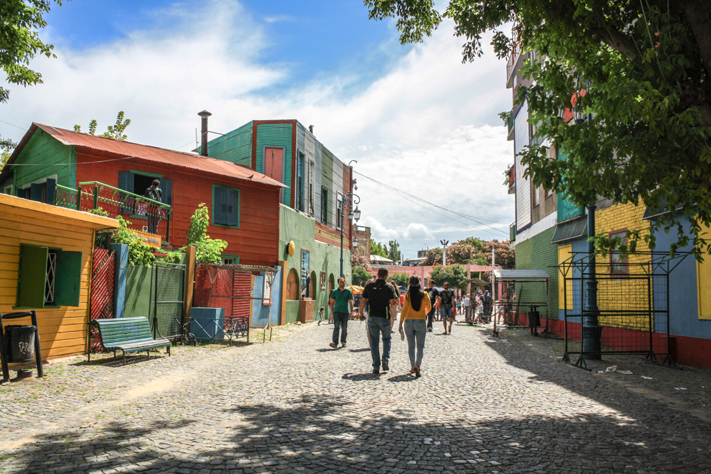 The streets of La Boca, Buenos Aires, Argentina