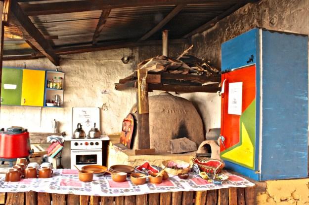 Hostel kitchen in Bolivia.