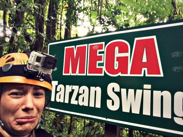 Tarzan Swing, 100% Aventura Monteverde, Costa Rica
