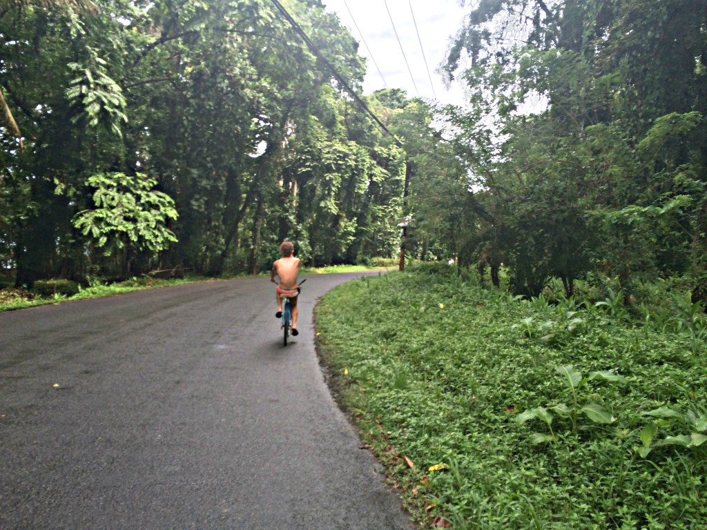 Biking to Punta Uva