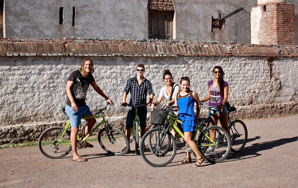 Bicycle winery tour, Mendoza, Argentina