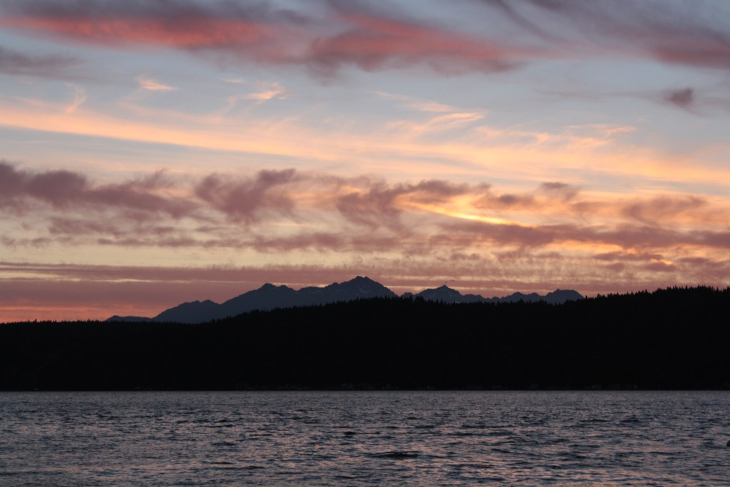 Hood Canal and the Olympic Mountain Range