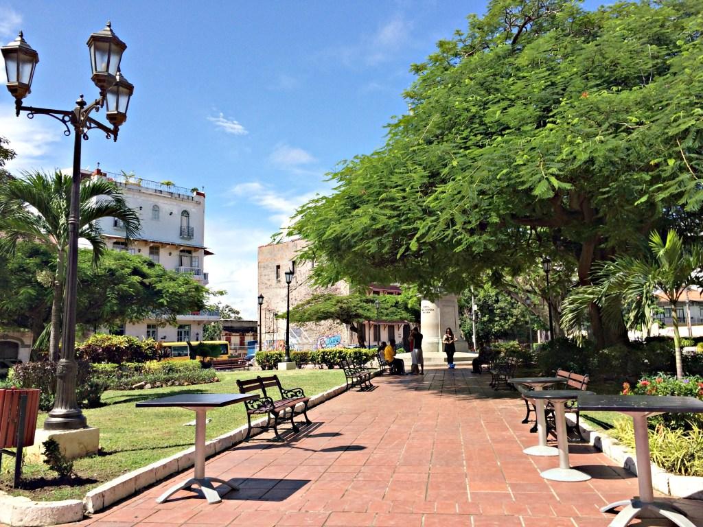 Park in Casco Viejo, Panama City