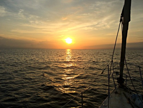 Sunset on the Sailboat Victory, San Blas Islands