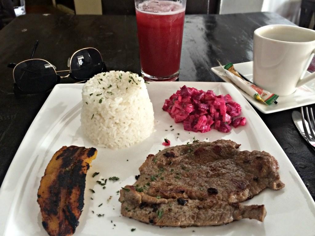 Set lunch menu for 8,000 pesos in Santa Marta, Colombia