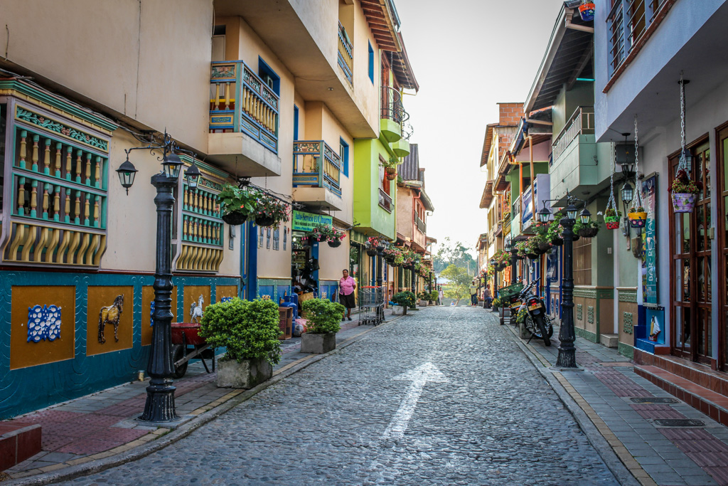 The streets of Guatape, Colombia