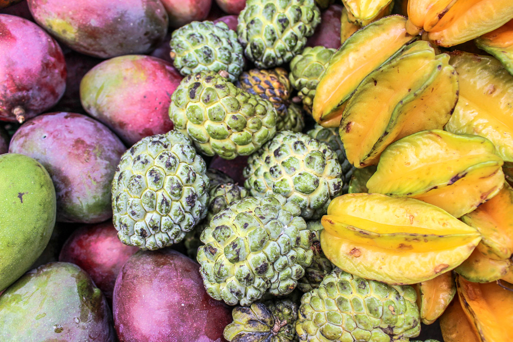 Tropical fruit in the main plaza of Santa Fe de Antioquia