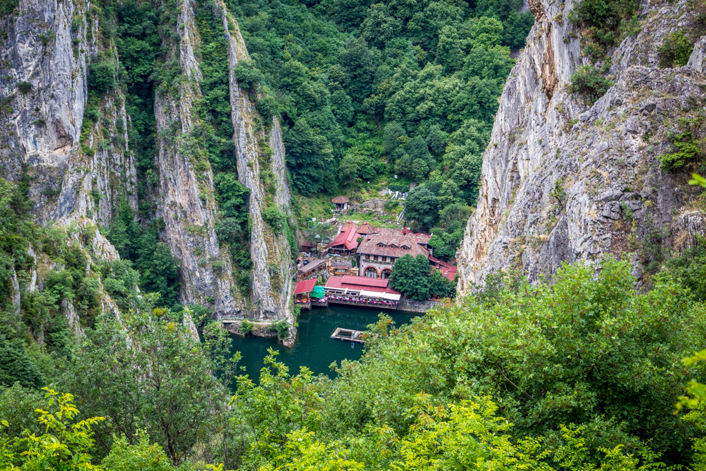 Hiking out of Matka Canyon, Macedonia