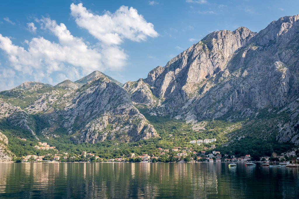 The Bay of Kotor looking gorgeous in the morning light
