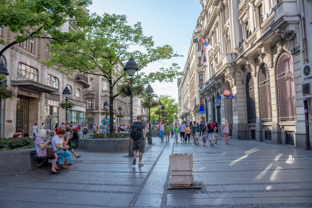 Downtown Belgrade, Serbia