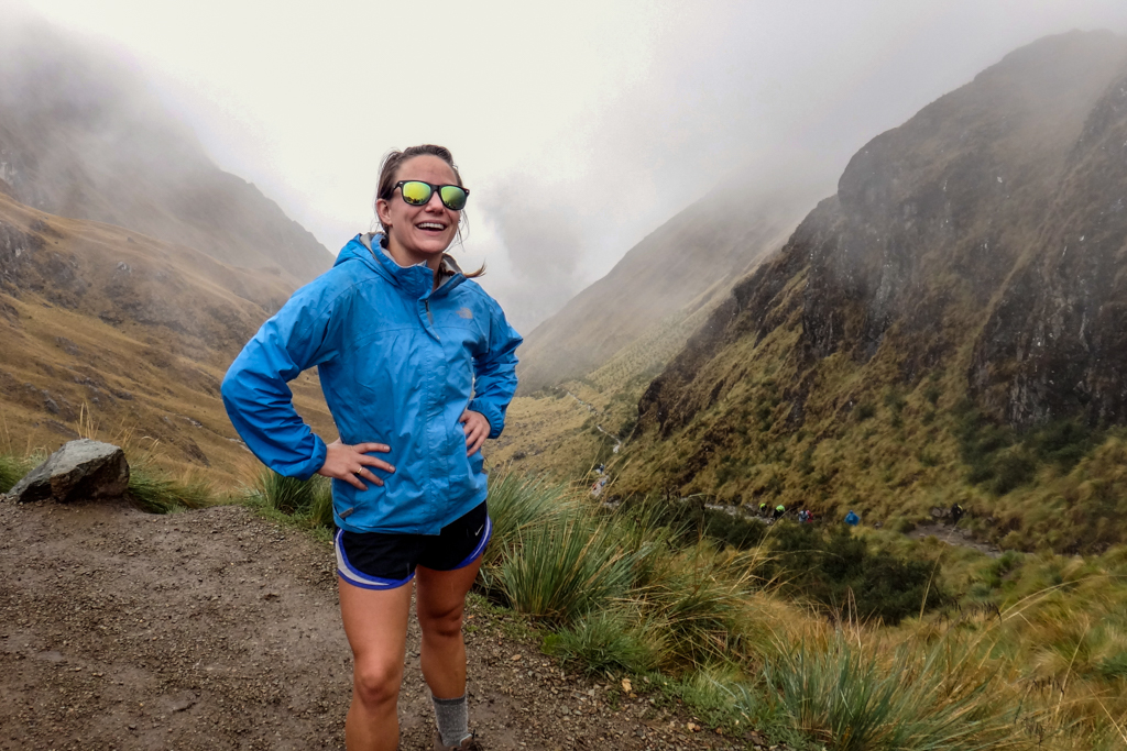 The summit of Dead Woman's Pass on the Inca Trail to Machu Picchu