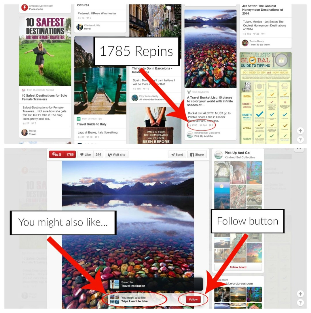Pinning popular pins on Pinterest