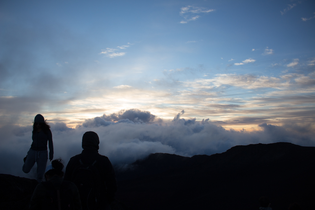 Summiting Haleakala Crater for Sunrise, Maui, Hawaii