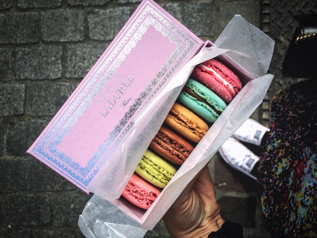 What to do in Paris in four days. Macarons from Laduree.