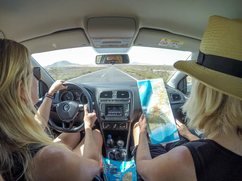 Road tripping around Fuerteventura, Spain in a rental car
