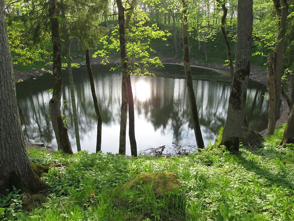 Meteorite lake in Estonia