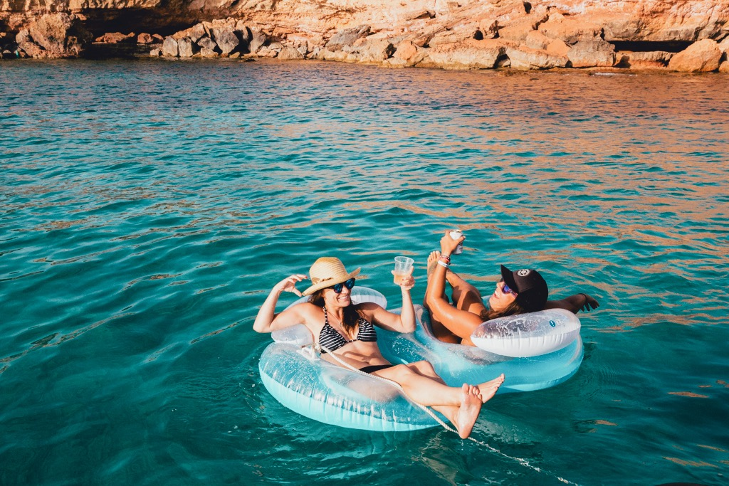 A boat trip to Formentera, Spain