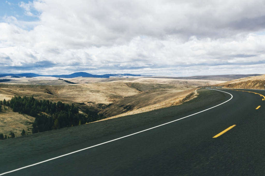 Driving in eastern Oregon