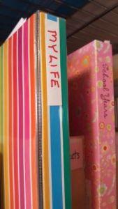 sweetman, life, binder, shelf, spine