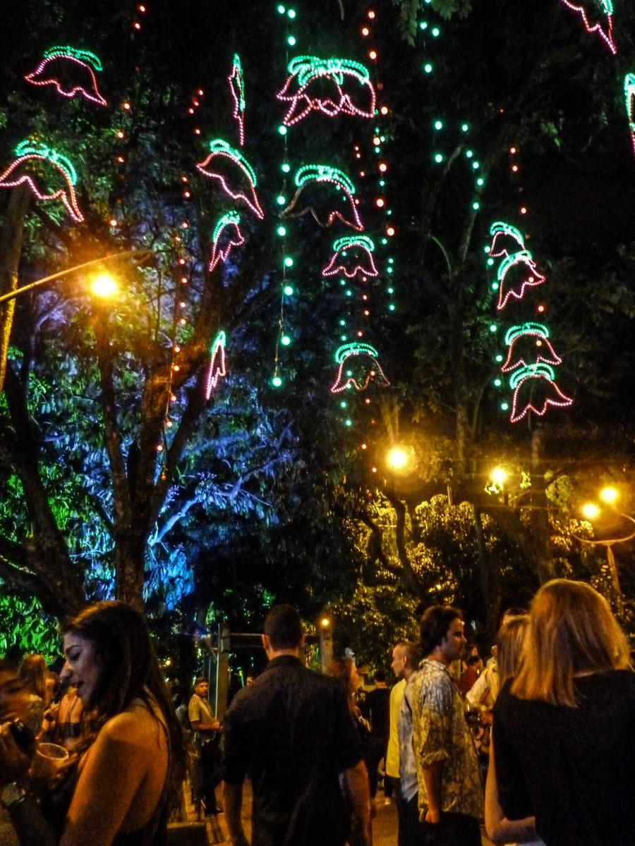 Parque Lleras in Medellin - a popular hangout spot