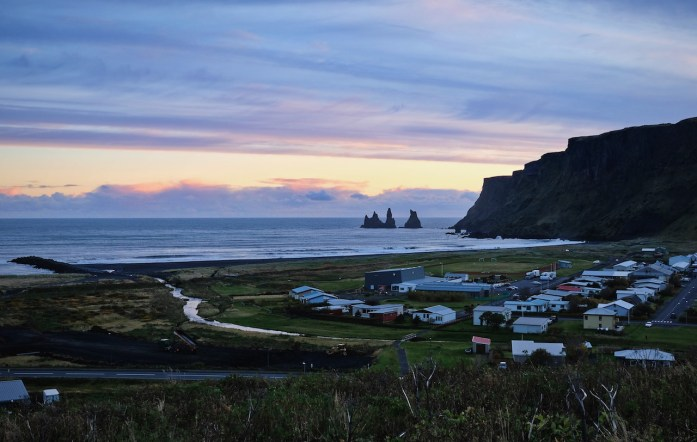 iceland road trip vik sunset