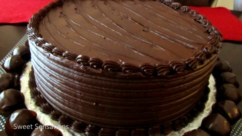 chocolate truffle cake one