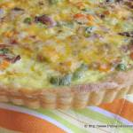 Mixed Vegetable Tart with Applewood Smoked Baon