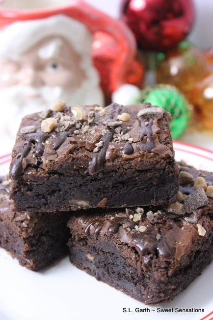 Toffee Bourbon Brownies