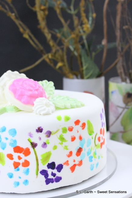 Spring Floral Painted Cakes 9