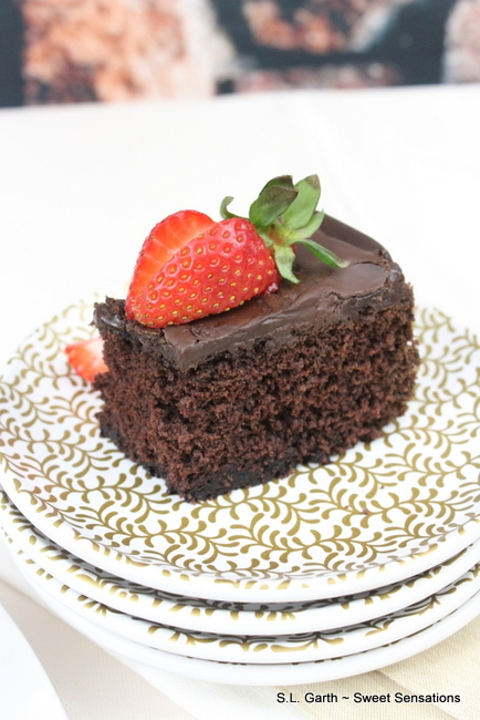 The moist crumb and deep chocolate flavor of this Gluten Free Chocolate Cake made a believer out of me.