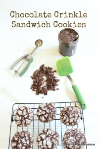 These Chocolate Crinkle Sandwich Cookies are an easy way to transform a packaged mix into a decadent treat.