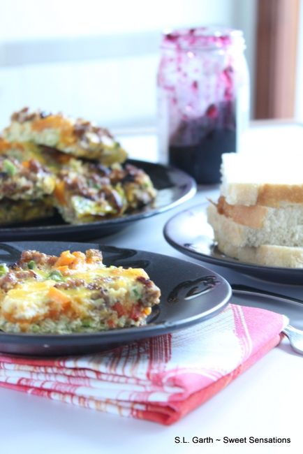 This Zucchini Sweet Potato Frittata would be great on a brunch menu along with potatoes, fresh fruit and of course a few pastries.