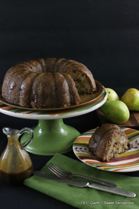 This Caramel Glazed Pear cake is made with oil rather than butter. It's chock full of diced pears and roasted pecans for the quintessential fall dessert.