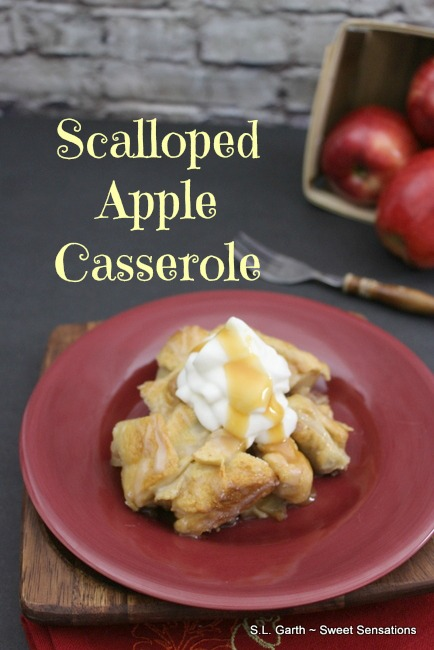 Using refrigerated crescent roll dough in this Scalloped Apple Casserole helps this dessert come together quickly.