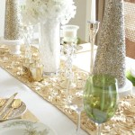 Elegant Ivory and Gold Christmas Tablescape