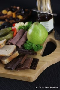 This charcuterie board was easy to pull together with this durable engraved cutting board from Gifts For You Now. It's a great size and easy to clean.