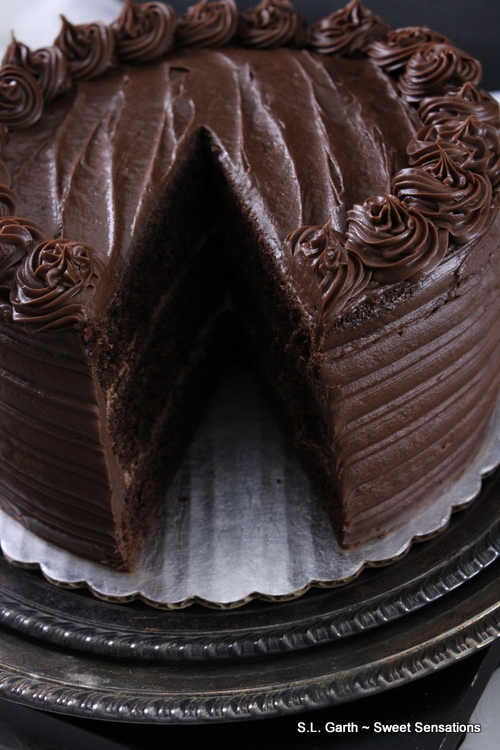 If you're looking for a decadent dessert try this Super Dark Chocolate Cake with Milk Chocolate Lavender Mousse.